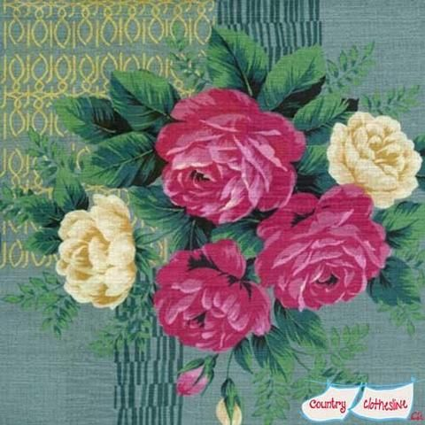 Outback Wife Kristine Pink Barkcloth by Gertrude Made for Ella Blue Fabrics