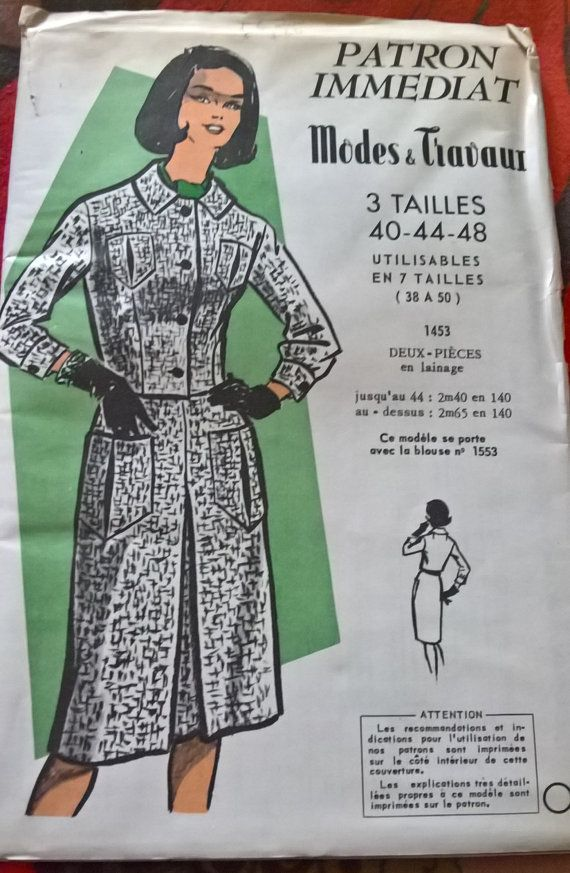 19 best 60\'s Vintage Sewing Patterns images on Pinterest | 60 s ...