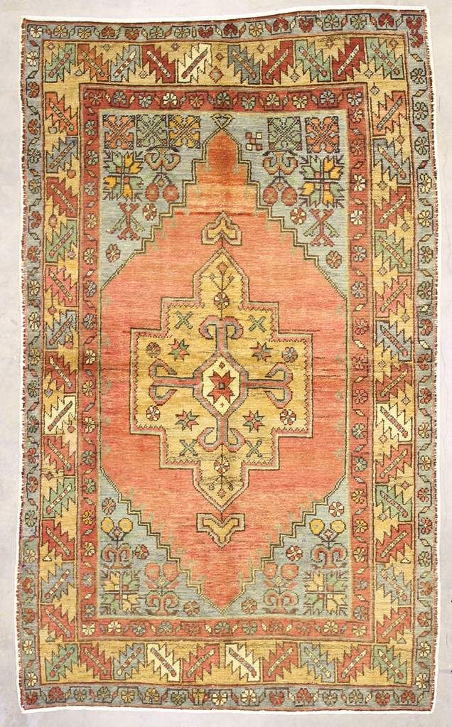 4x7 Red Vintage Turkish Area Rug With Images Area Rugs Rugs