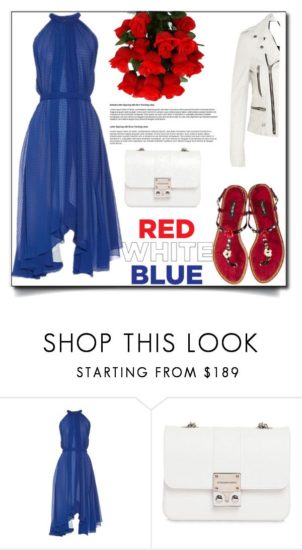 """""""RED WHITE BLUE"""" by sally92 on Polyvore featuring moda, Saloni, Design Inverso e Yves Saint Laurent"""