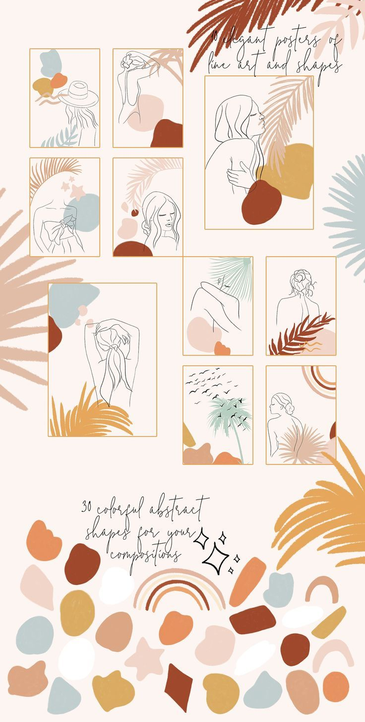 Line Art Collection ~ Illustrations ~ Creative Market #illustrations #illustrati… – Selina Creates