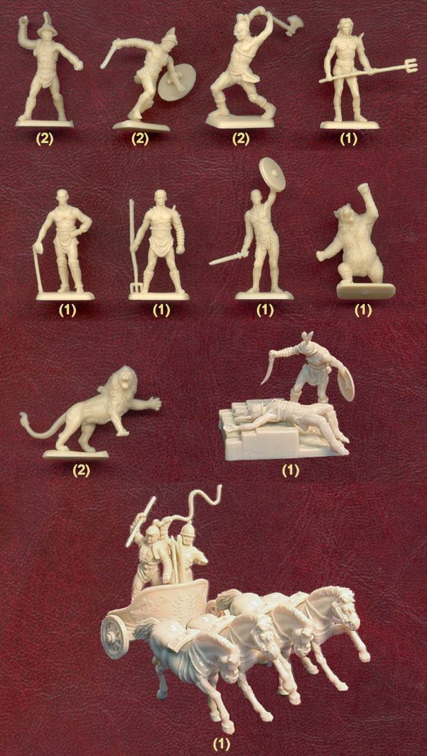 Italeri - Gladiators  -Bears and Lions and a human sacrifice!
