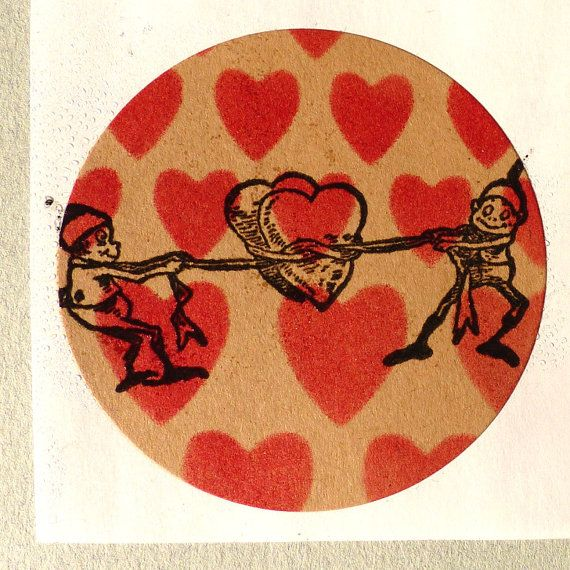 Valentine rubber stamp / Brownies capturing hearts / by MAKIstamps