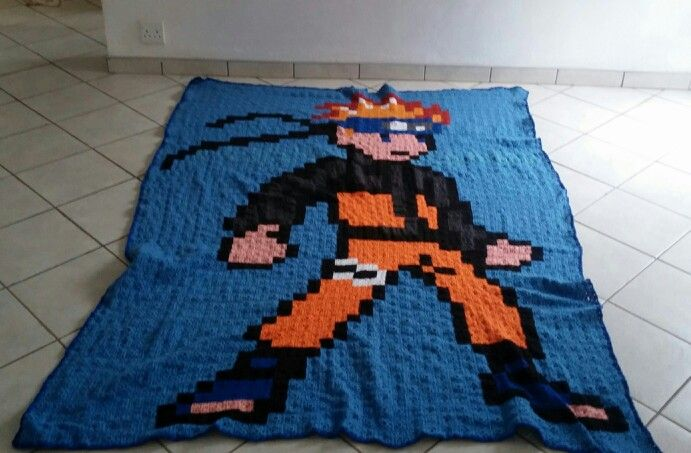 The Naruto granny square Blanket that I crochet for more than 14 weeks. It stands at 175x250 ❤Sewleigh http://www.pinterest.com/Sewleigh ❤