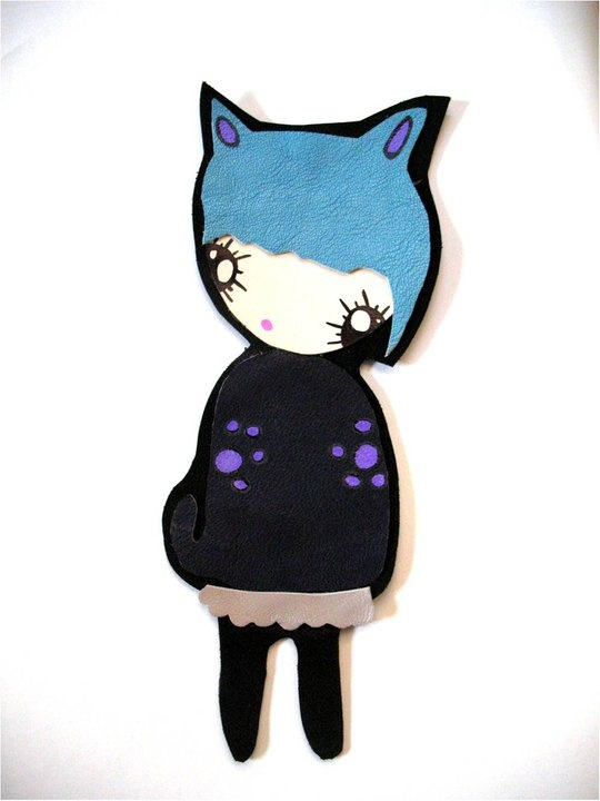 Catty - leather bookmark