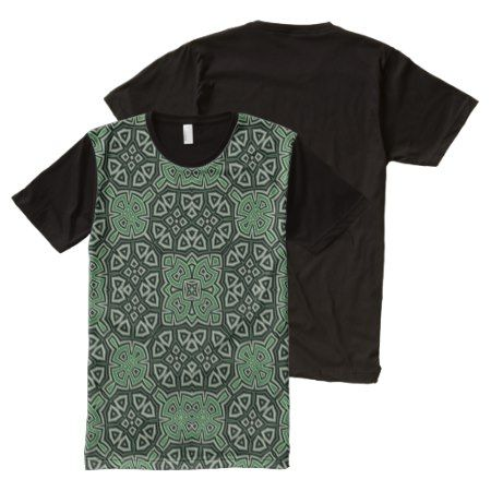 Abstract Pattern green All-Over-Print Shirt - click to get yours right now!
