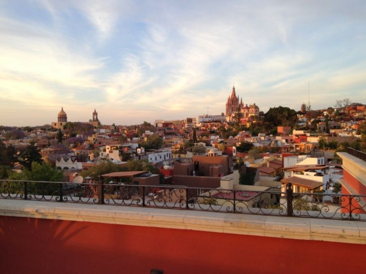 "With such temperate weather, described by some as ""eternal spring,"" many of San Miguel de Allende's restaurants and bars are on rooftops, offering beautiful city views. This is Luna Rooftop Tapas Bar at the Rosewood Resort."