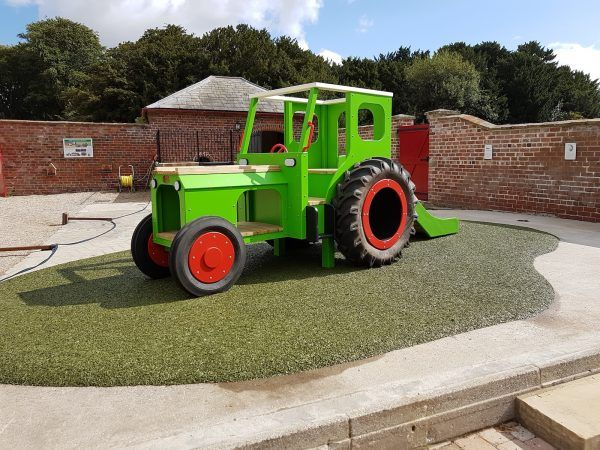 Sledmere House Lime Green Play Tractor