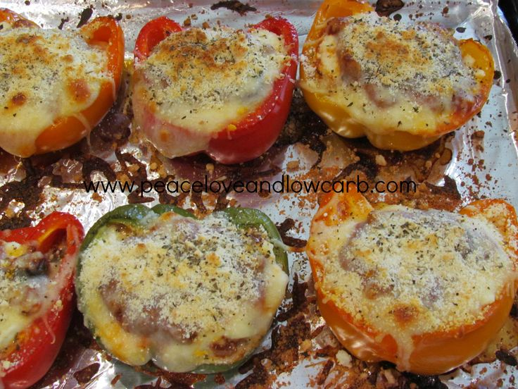 Lasagna Stuffed Peppers - Low Carb, Gluten-Free