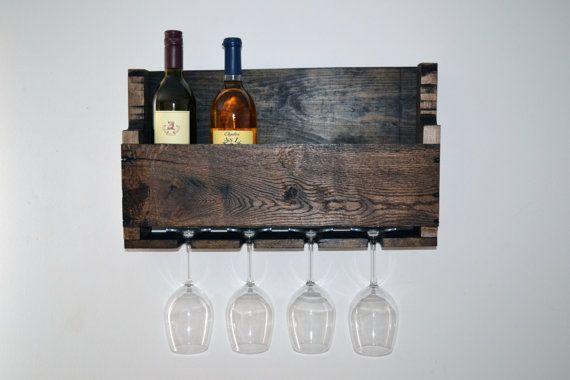 Reciclado madera estante del vino con los por TurnbullFarms en Etsy