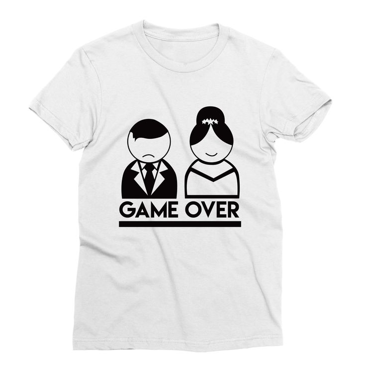 Game Over – My Main Tees Rock this cheeky design for your engagement announcement or on the big day while getting ready.  This design says it all - The game of courtship is over, but perhaps a new game is on the horizon? 'Who can fit more dishes in the dishwasher?' or everyone's favourite 'Who's walking the dog tonight?'