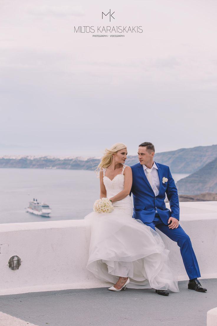 #weddingideas #weddingphotographer #white #dress #wedding #flowers #groom #bride #love ##ship #volcano #view #oia #mykonos #folegandros #santorini #Greece #miltoskaraiskakis