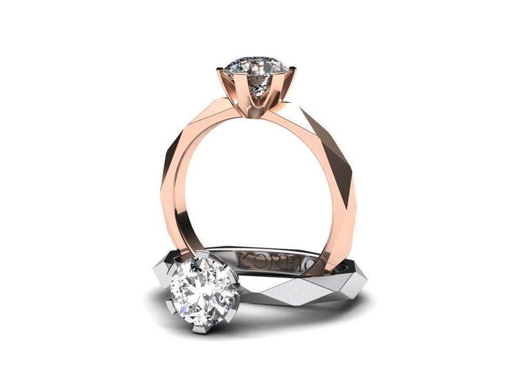 Představuji vám velmi oblíbený zásnubní prsten z bílého zlata. Prsten je osazen jedním větším kamenem. Co na něj říkáte? www.korbicka.com