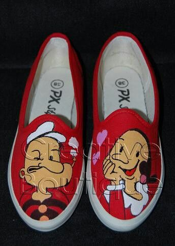 Painting shoes Popeye Only 125k-135k