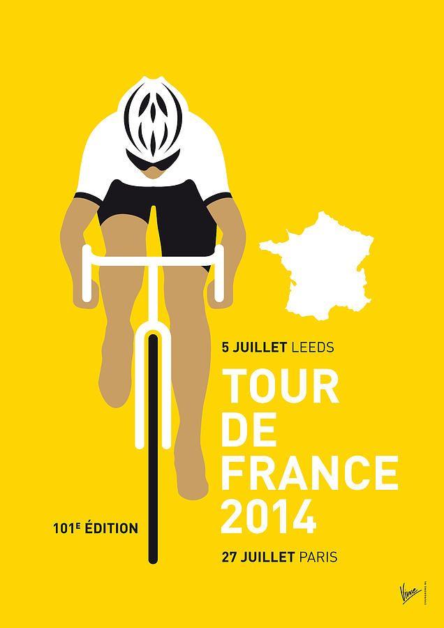 My Tour De France Minimal Poster 2014 Digital Art