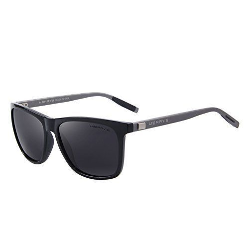 Unisex Sunglasses Glasses Aluminum Polarized Lens Vintage Retro Style Black NEW #Merrys