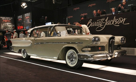 Top 10 Cars of 2011-2012 Classic Car Auctions1958 Edsel CorsairAuction house: Barrett-Jackson | Sale price: $9,900Finally, there's an Edsel. For most auction buyers, owning an impeccable 1955 Mercedes-Benz Gullwing is about as feasible as picking up a restored space shuttle. Instead, they collect cars such as this Edsel Corsair coupe, legendary under its heap of scorn, and in need of restoration, but more interesting than the legions of Camaros and Chargers it's crammed between. Despite the…