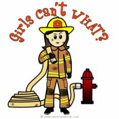 female firefighter graphics and