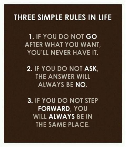 Three Simple Rules in Life #Inspirational Quote #encouragement