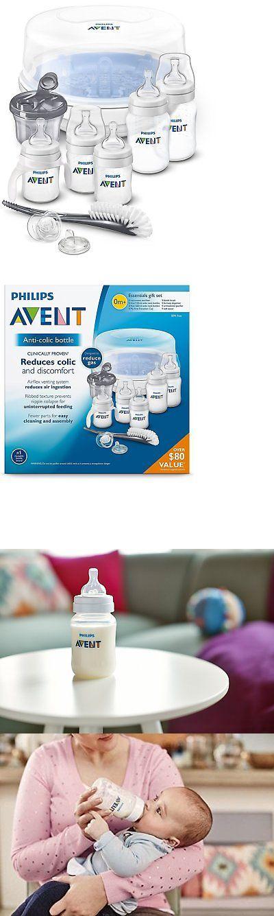 Baby Bottles 20402: Philips Avent Anticolic Bottle Essentials Newborn Starter Set, Clear -> BUY IT NOW ONLY: $53.34 on eBay!