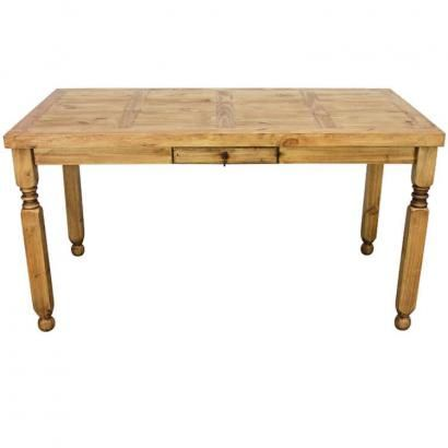 Picture yourself and your friends drinking cold margaritas around this large bistro table. Match it with some rustic barstools for a complete set. Up to six can sit and eat or drink comfortably at this very affordable southwestern table. Use it in the dining room or in a bar area. Handmade in Mexico.