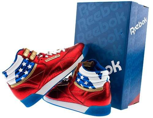 Reebok Creates Wonder Woman Kicks for Fabulous Femmes #patriotic trendhunter.com