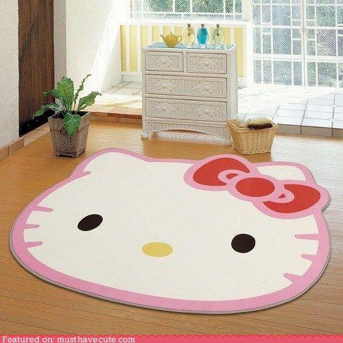 Hello Kitty Floor Rug. 1638 best Hello Kitty images on Pinterest   Hello kitty stuff