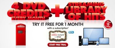 1-Month FREE Trial of Redbox Instant Video Streaming