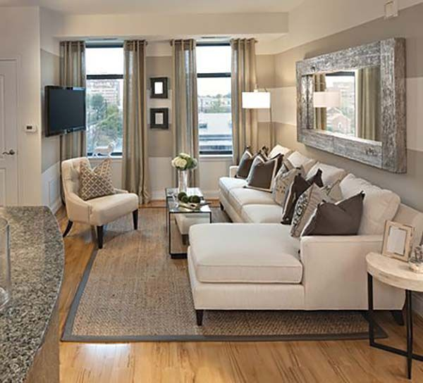 38 small yet super cozy living room designs condo living - Small living room ideas with tv ...