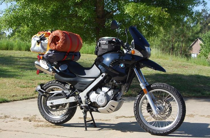 thats the way to carry your luggage! bmw f650gs