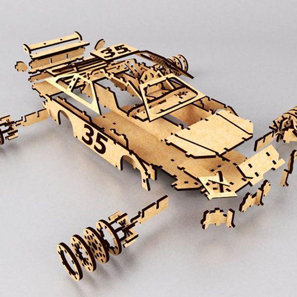 Nascar Exploited | DXFPlans - Puzzles 3D | Laser cut wood, Laser cutter ideas, Laser cutting