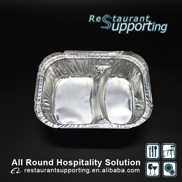 Restaurant Fast Food Packaging Oven Safe Disposable Aluminium Foil