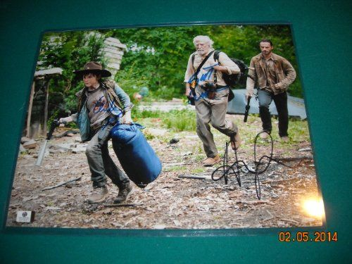 Andrew Lincoln Chandler Riggs & Scott Wilson The Walking Dead Autographed Signed 11 x 14 Photograp @ niftywarehouse.com #NiftyWarehouse #WalkingDead #Zombie #Zombies #TV