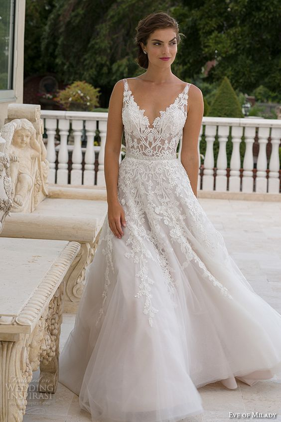 50 Beautiful Lace Wedding Dresses To For Bodice Neckline And Dress