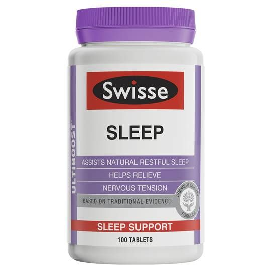 Product Description swisse ultiboost sleep is a premium quality formula containing magnesium and herbs, including valerian, which helps to relieve nervous tension and assist natural, restful sleep.  Half Price SPECIALS | Woolworths