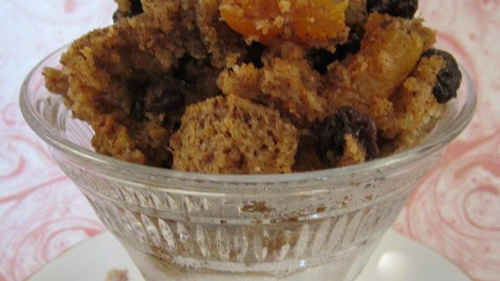 British Bread Pudding- A spicy bread-like cake containing lots of mixed dried fruit. This would make a perfect Sunday lunch dessert served warm with vanilla custard.