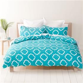 Tessa Print Quilt Cover Set - Single | Kmart