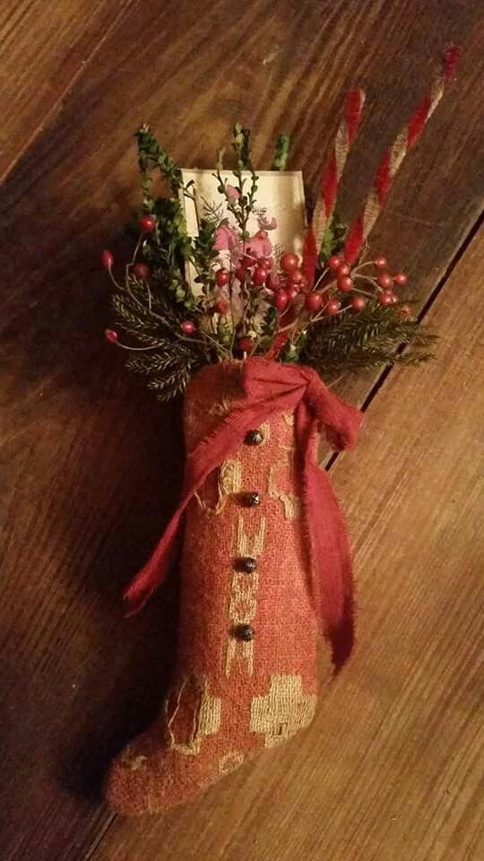 460 best Primitive Handmade Christmas Decorations images on - primitive christmas decorations