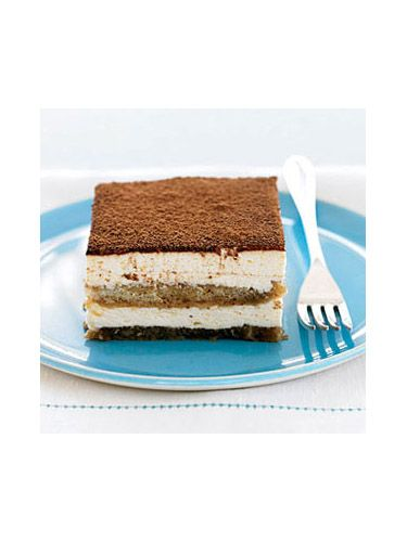 Tiramisu, the darling of Italian desserts, is always a crowd pleaser. This version speeds things up by alternating layers of premade ladyfingers, coffee liqueur and ready-made cheesecake filling, which is all finished off with a dusting of unsweetened cocoa powder. Get the recipe.