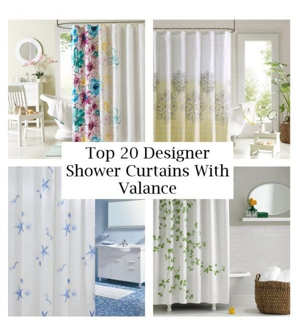 Top 20 Designer Shower Curtains With Valance Designer Shower Curtains Shower Curtain With Valance Curtains