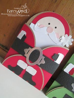 lemon pippin: Christmas Character Gift Card Holders