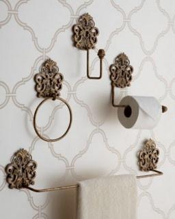 Antiqued Bathroom Decor $52.00- Horchow