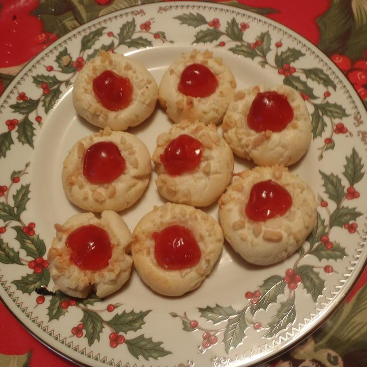 I originally found this recipe on-line a number of years ago and never made them until last year. I was looking through some cookbooks a few weeks ago and found the very same recipe in the Southern Living Christmas Cookbook. These are really delicious and look so pretty on my cookie trays.