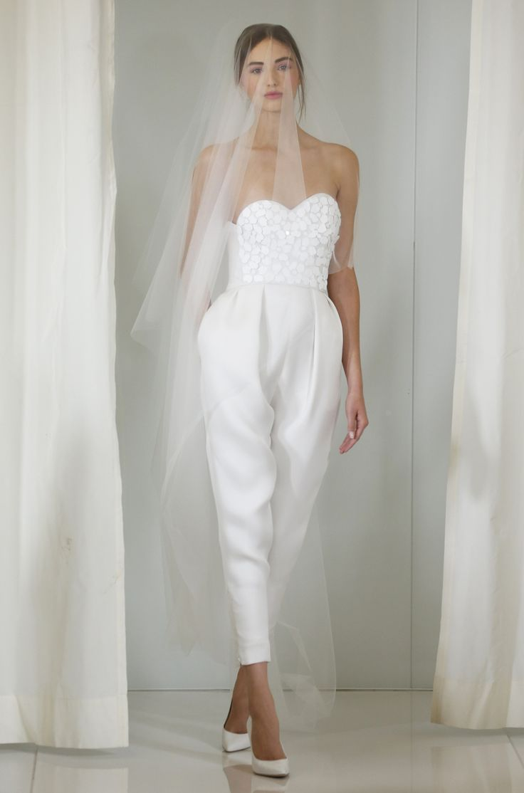 Angel Sanchez Bridal Fall 2016 [Photo: George Chinsee]