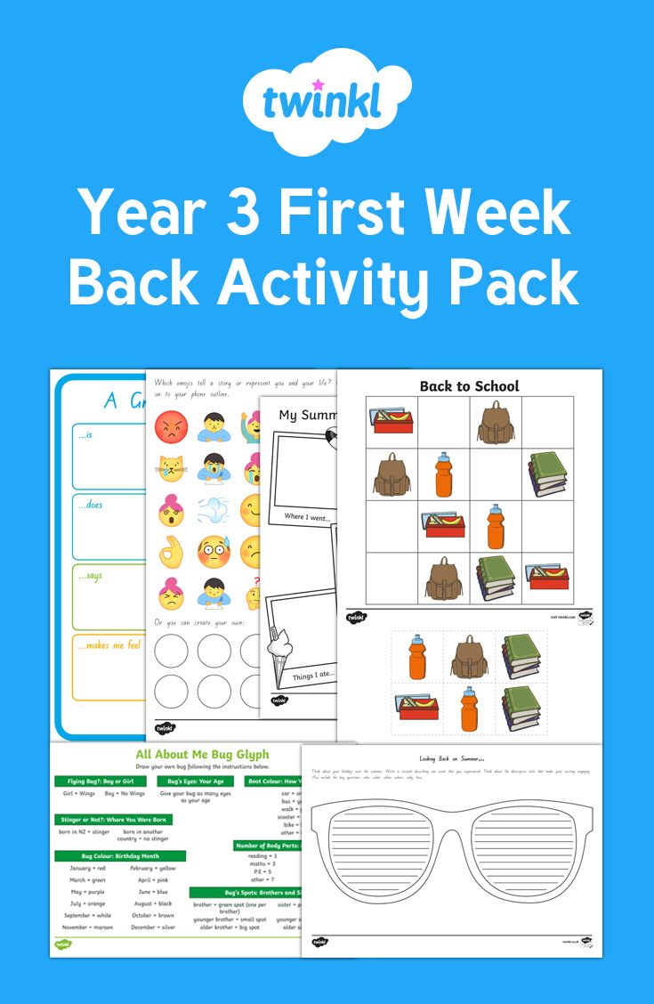 Perfect Year 3 activities for the first week back.