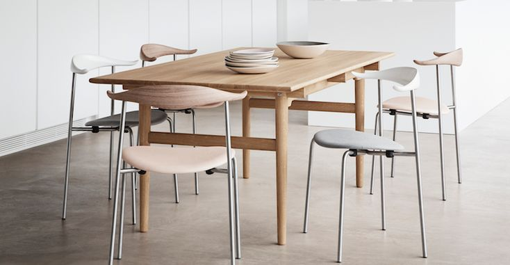 CH88 chairs with CH327 dining table  Danish Interior Design Budapest