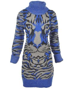 "Dollhouse Big Girls' ""Tiger Face"" Sweater Dress (Sizes 7 – 16) $5.99  Give her cozy head-to-toe style with this Dollhouse sweater dress. The acrylic blend knit comes with glittery ribbed trim throughout, and a tiger design on the chest. Oversized turtleneck adds a dramatic touch."