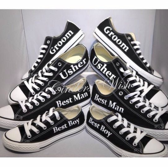 We cater for whole wedding parties including Groom, Ushers , and page boys :-) #cinderswish #groomconverse #mensconverse