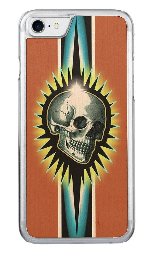 Vintage Skull Starburst Wooden Phone Case - NDGRags on Zazzle