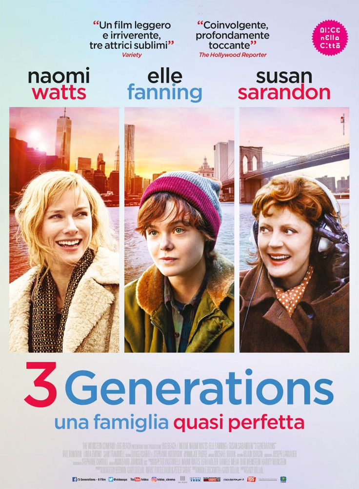 3 Generations 2017 Movie  https://www.hatici.com/3-generations-2017-film  3 Generations 2017 Movie; Ray (Elle Fanning) is a teenager who does not want to be a girl and decides to pass on to a man. His only mother Maggie (Naomi Watts) should get legal permission to convince Ray's biological father, Tate Donovan, to allow Ray to change his sex. Dolly (Susan... - hatici